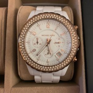 White and Gold Michael Kors Watch